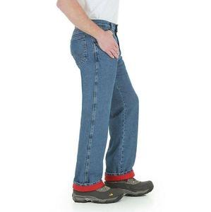 Wrangler Rugged Wear Men's Woodland Thermal Jeans